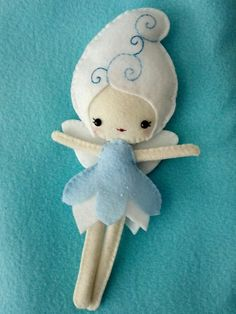 Plush Fairy Doll by WordsToSewBy on Etsy