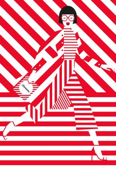 Fazer Marianne by Craig & Karl Craig & Karl - Fazer Marianne campaign. The illustrations were inspired by the peppermint and chocolate candy's classic red and white wrapper. Art And Illustration, Illustrations Posters, Portrait Illustration, Kunst Inspo, Kunst Poster, Pop Art Design, Red Art, Arte Popular, Art Graphique