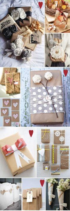 amei Presentes embalados no papel de pão
