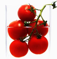 Tomaten im Glas Abstrakt