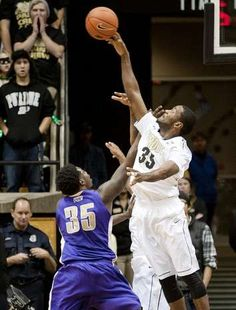 ... shot of Montevallo forward Marvin Fitzgerald during the first  exhibition game of the season inside Mackey Arena 19c2c5fbe