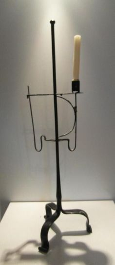 Wrought Iron Combined Candle Rush Light Stand 18th Century | eBay  sold   811.00