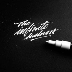 Awesome letter forms. 'The infinite sadness' by @cremelinski | #typegang if you would like to be featured | typegang.com | typegang.com #typegang #typography
