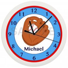 So cute! Baseball clock