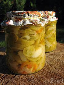 egycsipet: Zöldparadicsom saláta Preserves, Pickles, Cucumber, Cooking Recipes, Jar, Canning, Vegetables, Food, Preserve