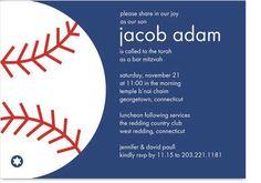 Baseball Bar Mitzvah Invitation