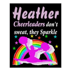PERSONALIZED SPARKLING CHEERLEADER POSTER Awesome Cheerleading posters and wall art to inspire your Cheerleader http://www.zazzle.com/mysportsstar/gifts?cg=196898030795976236&rf=238246180177746410   #Cheerleading #Cheerleader #Cheerleadinggifts #Cheerleadingposter #PersonalizedCheerleader