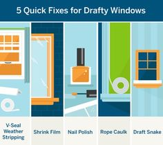 Looking to quickly fix drafty windows? Spend less than $8 on one of these easy solutions: