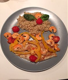 Healthy food!! Brown rice with fish and prawns!! #homemade #cheftime #homesweethome