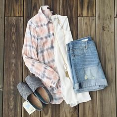 "JUNE & BEYOND BOUTIQUE on Instagram: ""Layering with plaid is always a great idea! #lovetolayer #summerplaid #plaid #toms #kutdenim #boyfriendshorts #summerstyle #summerfashion #shopjuneandbeyond #juneandbeyondboutique"""