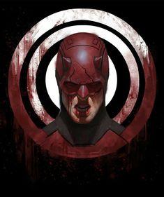"""Daredevil"" by Aaron Bartling Marvel Comic Universe, Marvel Dc Comics, Marvel Cinematic Universe, Comic Book Characters, Marvel Characters, Comic Character, Comic Movies, Character Design, Daredevil Artwork"