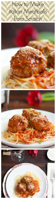How to Make Homemade Italian Meatballs from Scratch. http://ahealthylifeforme.com/2014/01/26/how-to-make-italian-meatballs/ #howto #ItalianMeatballs #HomeMade #Recipe