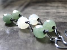 Jewelry Earrings Dangle Earrings Jade Gemstone by wulfgirl on Etsy, $37.00