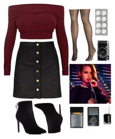 """Cheryl Blossom"" by claurussett on Polyvore featuring Avenue, Charles David and Essie"