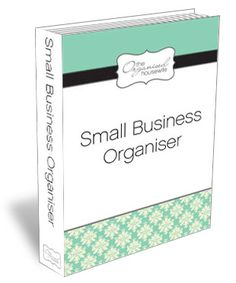'The Small Business Organizer' is to help you keep all your business paper work organized and together in one folder.