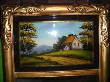 Details About Antique Early Mid 1800 S Reverse Painting On