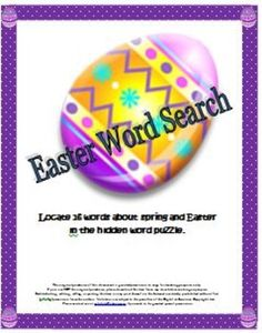 contains a word search puzzle about events or words related to spring ...