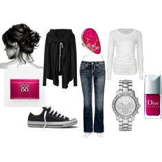 Black Friday Outfit, created by amysuzyq Saturday Outfit, Friday Outfit, Relaxed Outfit, Vogue, Casual Chic, Comfy Casual, Casual Wear, Comfy Shoes, Weekend Wear