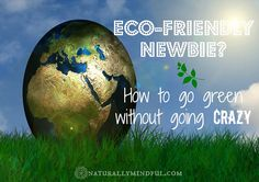 How To Go Green Without Going Crazy.  Eco-friendly living tips for the newbie.