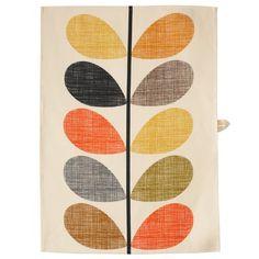 Orla Kiely | USA | House | Kitchen | Multi Stem Tea Towel (0KTTMST455) | Multi