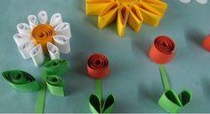 Flors amb tires de cartolina