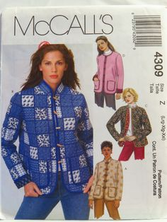 McCall's 4309 Misses'/Miss Petite Lined Jackets