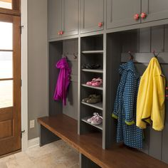 Mudroom Bench Storage Design Ideas, Pictures, Remodel, and Decor - page 5