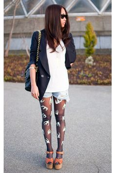 DIY MIU MIU tights>?  has anybody tried this? love the ensemble as a whole. not so much the individual pieces.