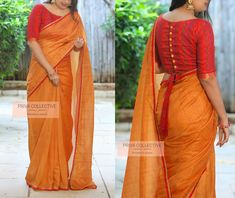 <br> A Road MLA Colony Banjara Hills Hyderabad - <br> Contact : 9160560480 to Blouse Designs High Neck, Cotton Saree Blouse Designs, Wedding Saree Blouse Designs, Stylish Blouse Design, Designer Blouse Patterns, Fancy Blouse Designs, My Collection, Floral Fabric, Hyderabad