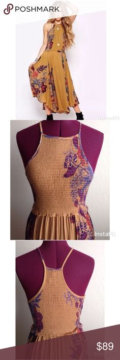 Free People Seasons in the Sun Slipdress Gorgeous! Size large. Excellent condition Free People Dresses