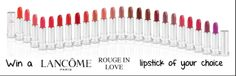REMINDER!Giveaway Route: Lancome Rouge in Love Lipstick Review + Giveaway