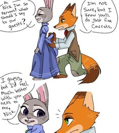 Go bleach your roots creep Zootopia Nick Wilde, Zootopia Nick And Judy, Zootopia Comic, Zootopia Art, Fanart, Judy Hopps, Make Pictures, Disney Films, Disney Channel