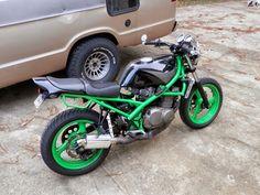 KARNAGE KUSTOMZ + custom metric choppers bobbers cafe racers yamaha xs honda cb kawasaki kz: Suzuki GSF400 paint