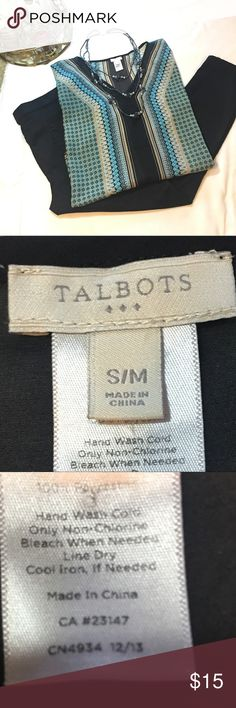 """Talbots 3/4 Sleeve Blouse Description 3/4 Sleeve Printed Measurements 46"""" Chest, 30"""" Length Materials 100% Polyester Condition This item is in excellent condition. Talbots Tops Blouses"""