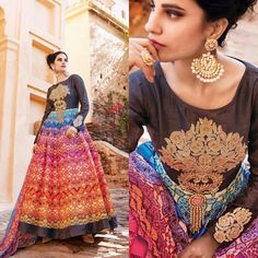 Anarkali Style Gorgeous Salwar Kameez in Black Color & Silk Fabric The lovely Embroidery work a substantial attribute of this attire.  KAMEEZ DETAILS Color Black Sub Color Black Fabric Silk Work Embroidery Type Anarkali Style Embroidered Length Approx. 48 - 50 Inch  SALWAR DETAILS Color Black Sub Color Black Fabric Shantoon Work Thread Bottom Style Churidar Length Approx. 40 - 42 Inch  Price : 2100 INR Only ! #Booknow  CASH ON DELIVERY Available In India ! Ship..