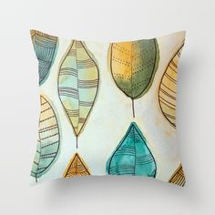Rustic Leaves Throw Pillow by lorimoro Leaves, Throw Pillows, Rustic, Stuff To Buy, Products, Country Primitive, Toss Pillows, Cushions, Decorative Pillows