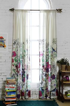 Plum & Bow Forest Critter Curtain NEED this arrow rod in my room! Cortina Boho, Home Deco, Interior And Exterior, Interior Design, Deco Addict, Deco Boheme, Beautiful Bedrooms, Beautiful Curtains, Bohemian Decor