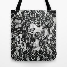 A delicate Passing Tote Bag by Kristy Patterson Design - $22.00