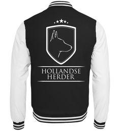 Collegejacke HOLLANDSE HERDER Wappen T-Shirt Holland, Sweaters, Fashion, Modern Sectional, Crests, Reach In Closet, Cotton, The Nederlands, Moda