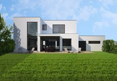 HAUS WST | AL Architekt Mansions, House Styles, Home Decor, Flat Roof, Modern Architecture, New Construction, Detached House, Interior Designing, Homes