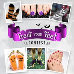 Time for a treat! Dress up your feet, send us a photo, and enter for your chance to win a leg spa & more! #TreatYourFeet