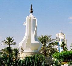 Typical sculpture in Qatar