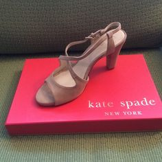 Kate Spade Roseland Taupe Heels Brand new, never worn, in original box. Nice taupe/blush hue. 4in heel. kate spade Shoes Heels