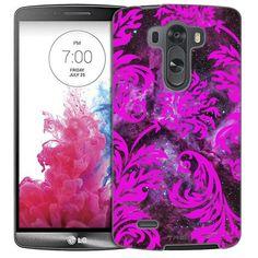 LG G3 Damasks Vintage Pink on Nebula Slim Case