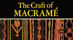"""""""The Craft of Macrame"""" (Book Review published in 1972) has directions and good illustrations of the basic knots as well as patterns for traditional belts, jewelry, wall hangings, purses and so forth.... Excellent for the novice."""