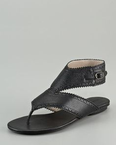 Balenciaga Covered Arena Sandal with Ankle Strap.