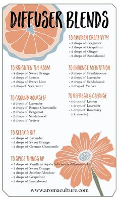 Diffuser Blends to Brighten Your Space — essential oil recipes