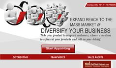 Reach every nook of the nation with GetDistributors.com and take your #business on heights.