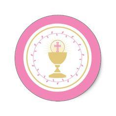 Primer sello del sobre de la comunión o pegatina d por OrangeOstrichDesigns