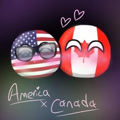 Brothers In Arms, America And Canada, Cute Comics, Country Art, Cool Countries, Gravity Falls, Balls, Ships, Wattpad